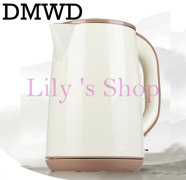 DMWD Split Style Stainless Steel Electric Kettles Quick Heating Auto water boiler heater tea pot Strong Packing 220V 1.5L EU US 220v 600w 1 2l portable multi cooker mini electric hot pot stainless steel inner electric cooker with steam lattice for students