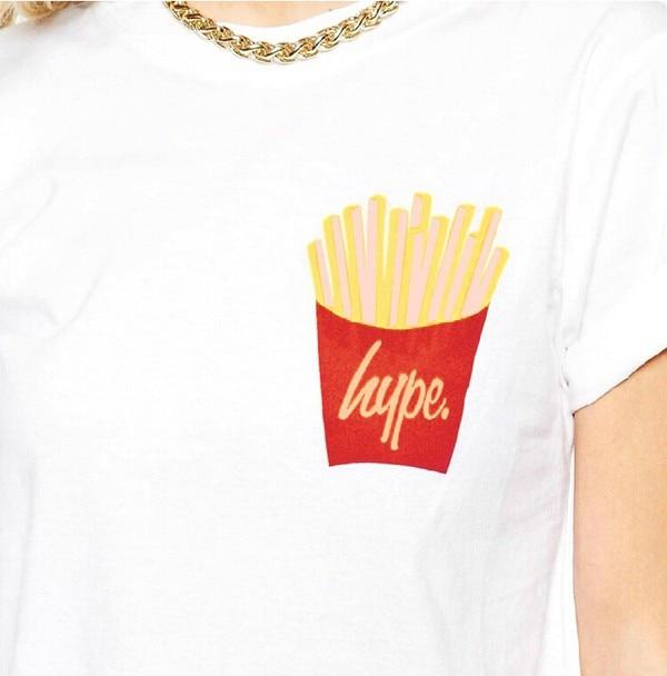 38198126393 2015 Real Emoji Harajuku Crop Top Hype French Fries Girls Short T ...