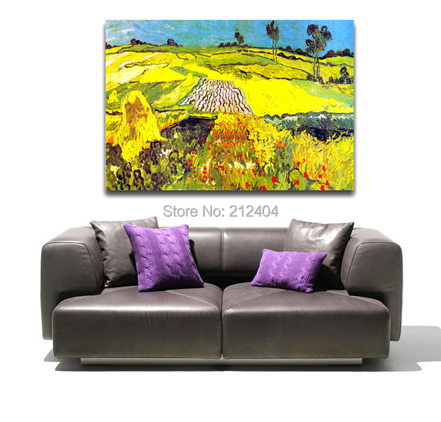 Wheat Fields By Van Gogh Famous Oil Painting Golden Canvas Prints ...