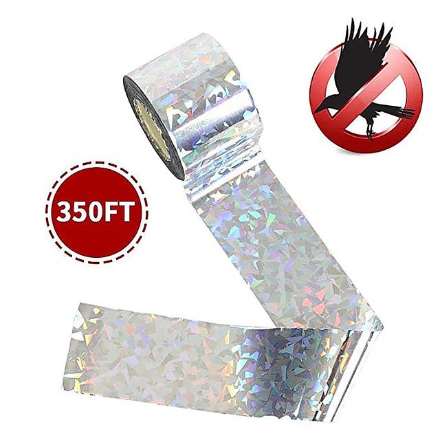 80CM Anti Bird Tape Flash Bird Scare Tape Belt Audible Repellent Fox Pigeons Pest Repeller Ribbon Tapes for Pest Control Reject
