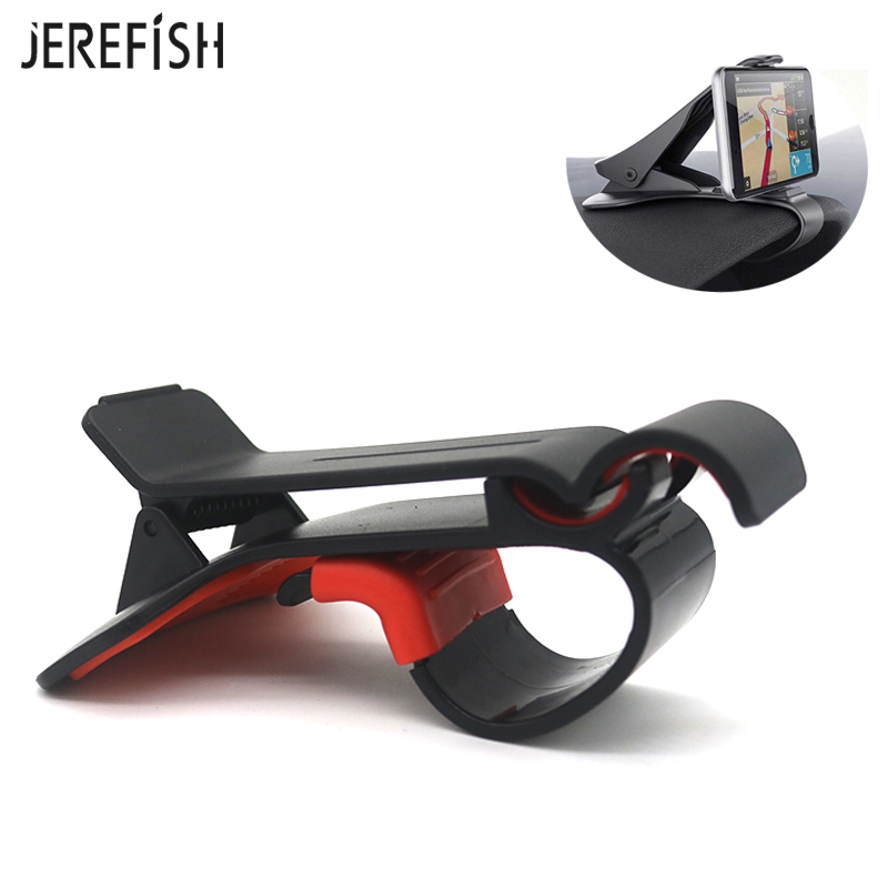 JEREFISH Universal Car Dashboard Holder Stand Hud Design Clip Smartphone Car Holder Mobile Phone Accessories Cell Phone Stand