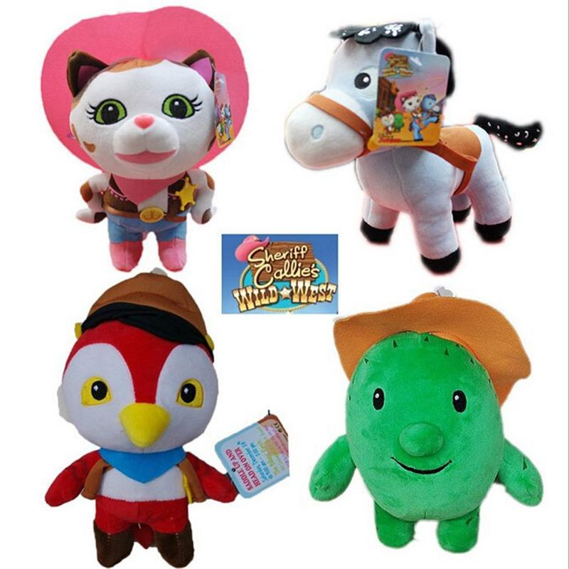 1pcs Movie Sheriff Callie's Wild West Plush Toys Doll Cowboy Callie Cat Pony Horse Woodpecker Cactus Plush Stuffed Animals Toys