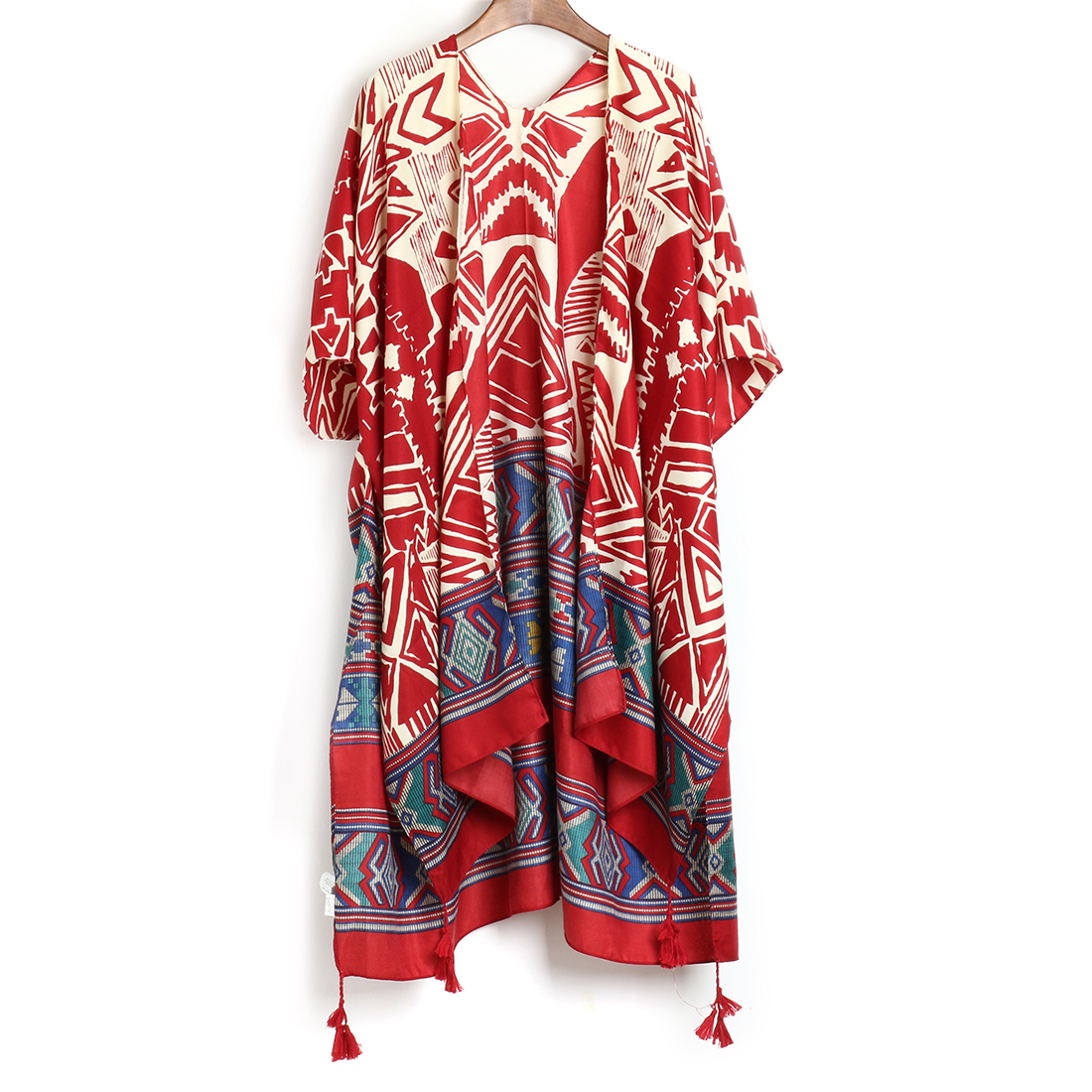 Summer Women Blusas Casual Loose Bohemian Blouse Shirts Long Outerwear New Boho Irregular Printed Kimono Cardigan 2019 8 Style(China)