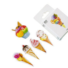 20packs/lot lovely sweet ice cream shape decorative adhesive paper sticker bookmark sticky label gifts for kids wholesale