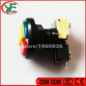 Image 3 - 10PCS Jamma Arcade 3 in 1 Round Push Button with high quality micro switch for arcade game machines Triple Colors