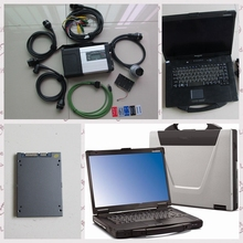 new arrival mb star c5 sd connect diagnostic tool+newest software 2018.03 ssd +cf-52 toughbook full set ready to use