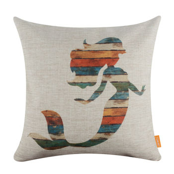 Rustic Mermaid Cushion Cover