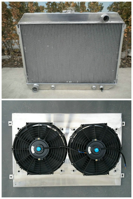 US $250 0  Aluminum Radiator & Shroud & Fan For Dodge 69 70 71 72 73 1968  1974 Charger / Challenger 70 74 / 68 72 Plymouth GTX -in Oil Coolers from