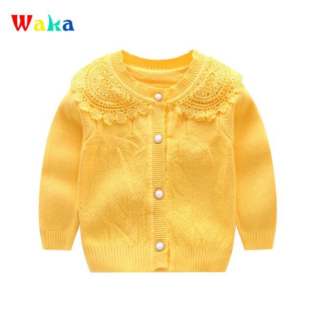 474e7db9c Casual Baby Girls Sweater Lace Flower Princess Cardigan Long Sleeve ...