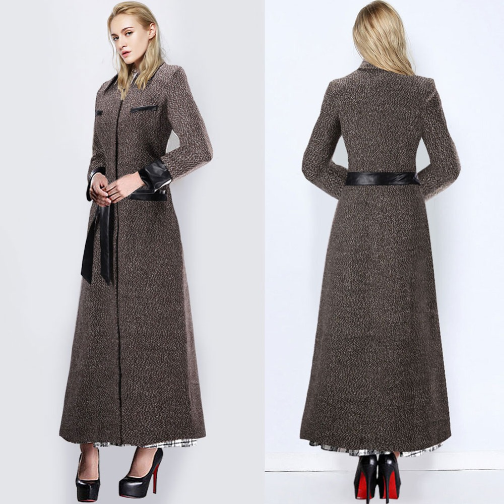 Ladies Full Length Wool Winter Coats - JacketIn
