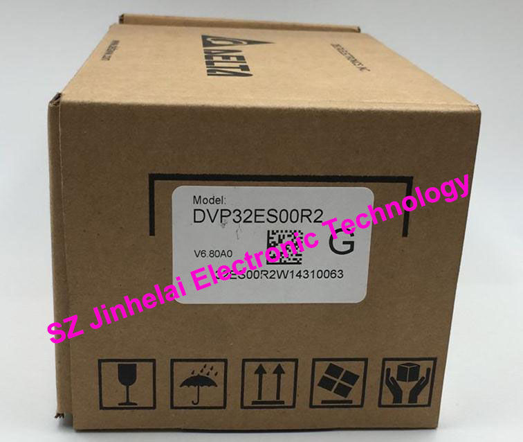 100% New original DVP32ES00R2  Delta  programmable controller   DVP-ES series, 32 point host, 16DI/16DO relay new original temperature controller dtb4848cr dtb series delta thermostat 100
