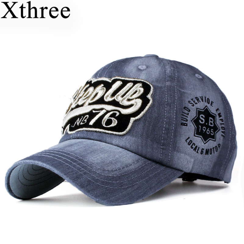 Xthree ritzy jeans baseball caps fashion
