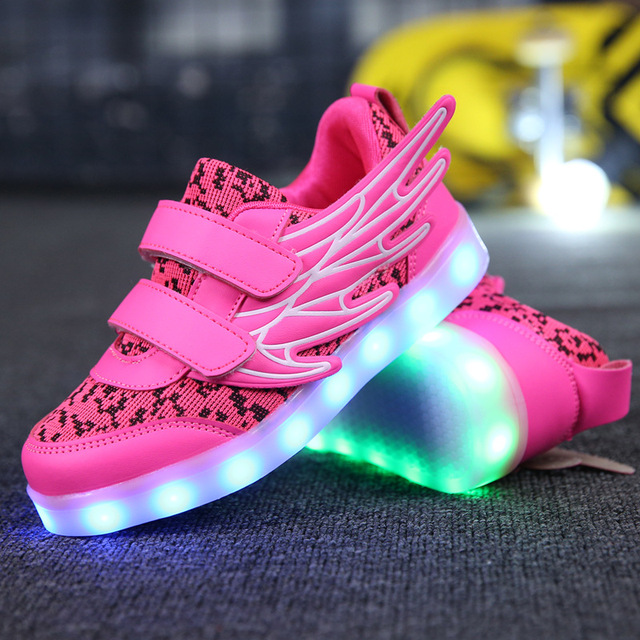 Led 37rougeoyant Sneakers Taille Pantoufles Lumineux 25 Tenis n14xqUBw