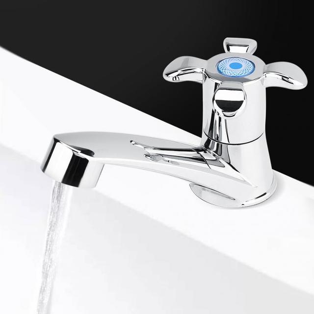 Torneira para banheiro ABS Plástico Único Acessórios Pia Da Cozinha Bacia do Banheiro Torneira Da Bacia Torneira de Água Fria Única Torneira Fria