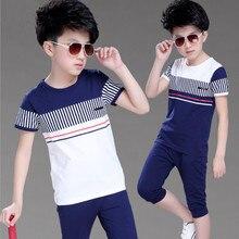 2018 Boys Summer Clothing Set Fashion Casual Sports Short Sleeve Cotton Children Clothes