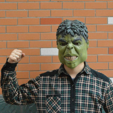 Wholesale Latex Hulk Helmet Masks for Cosplay Invincible Avenger Hulk Mask Halloween Party купить недорого в Москве
