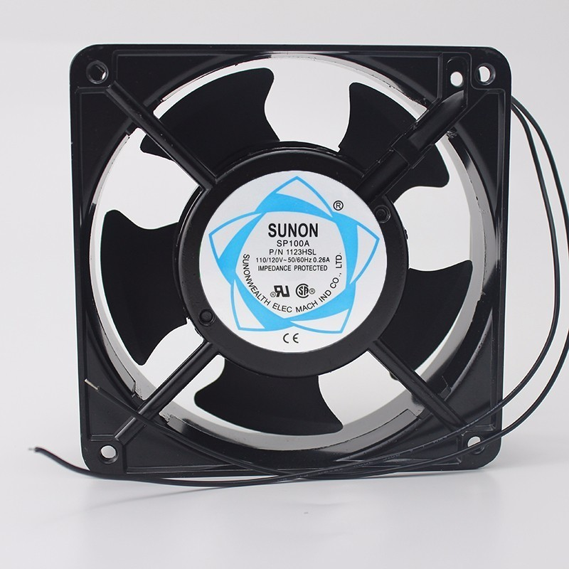SUNON SP100A 12CM 12038 120*120*38MM 1238 110/120V 3 Line Socket Industrial Cooling Fan