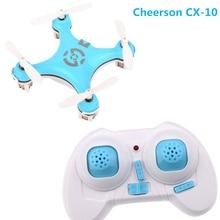 Mini RC Quadcopter Drone Para Cheerson CX-10 2.4G 4CH 6-Axis Helicóptero de Controle Remoto Com Luz Led Brinquedos Para Crianças Presente