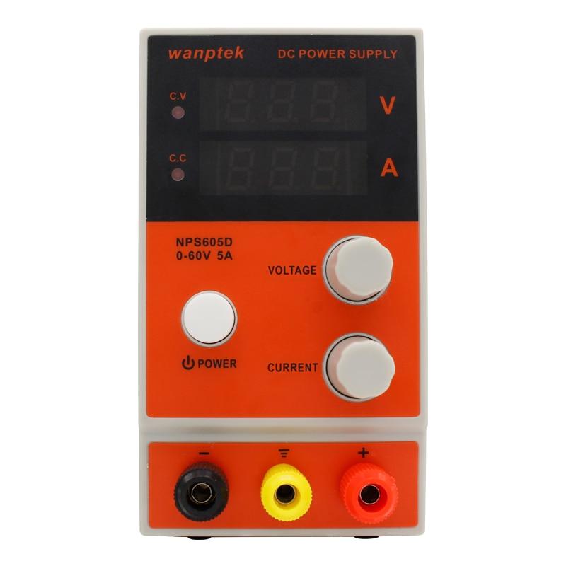 купить NPS605D Mini laboratory power supply 60V 5A Single phase adjustable Digital Display voltage regulator DC switching power supply