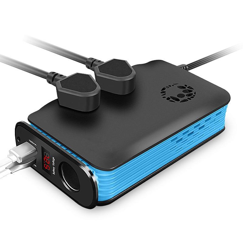 1 pièce multi-fonction voiture onduleur DC 12 V à 220 V AC voiture chargeur prise 200 W avec USB voyage Portable
