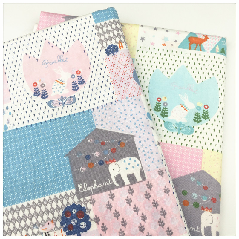 Animal home print twill cotton fabric by meter patchwork for Cloth material for sewing