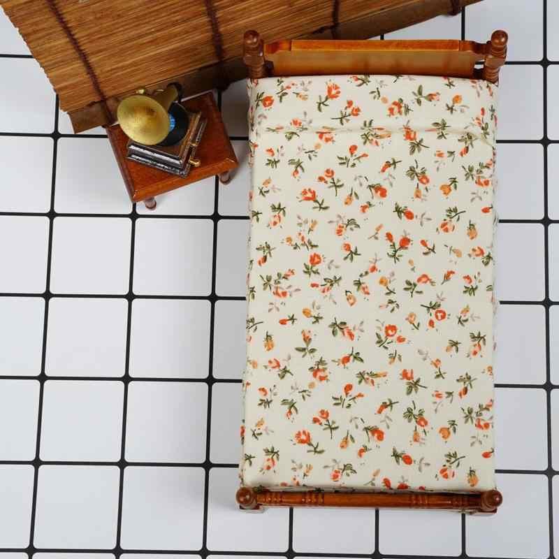 Dongzhur кукольной миниатюры 1:12 Интимные аксессуары Супер мило Цветочные односпальная кровать Кукольный дом Мебель Miniatura игрушечный домик челнока