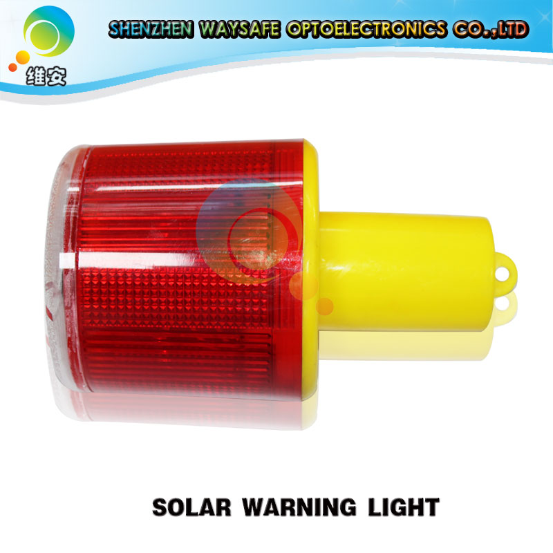 New Arrival Plastic Housing Solar Panel Flash Mode High Quality Road Safety Red LED Solar Warning Light