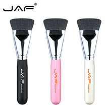 цена на JAF Flat Face Makeup Brush Soft Nylon Foundation BB Cream Contour Blush Highlighter Powder Face Blending Make Up Brushes 18SKYE
