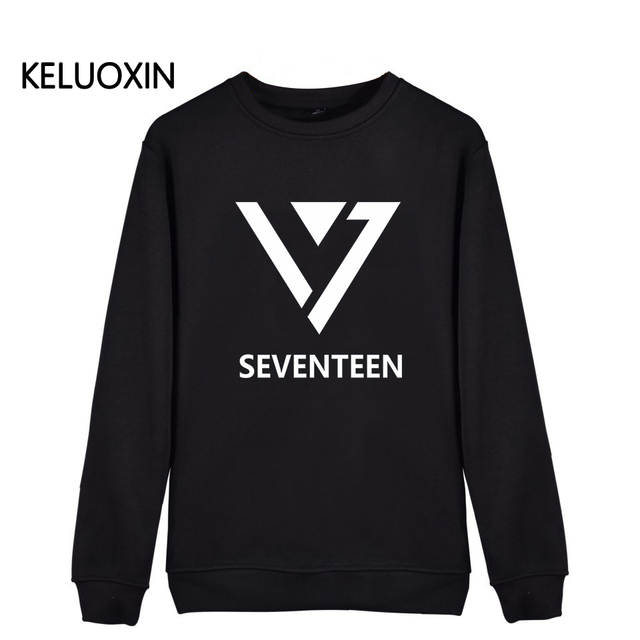 4746ac6545a New Seventeen 17 Kpop Latter Print Hoodies For Men Women Unisex Plus Size  JEONGHAN VERNON WOOZ Sweatshirt Fans Streetwear