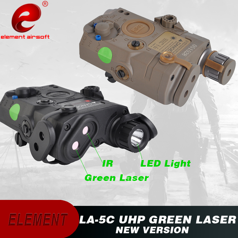 Element LA 5C UHP PEQ 15 UHP Appearance Weapon Light IR Laser Green Laser Airsoft Tactical