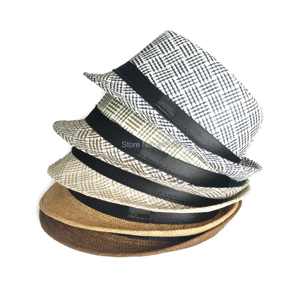 unisex  Summer Straw Beach Women Fedora cap Men Sun hat Travel felt panama hat Fahion Bon Jazz CapTrilby gorras planas