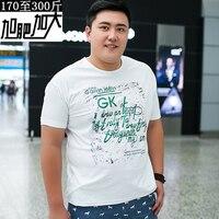 Plus Size 8XL 6XL 5XL 4XL Letter Print T Shirt Mens White Comic Con Cosplay T
