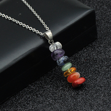 Chakras Necklace with Natural Stones