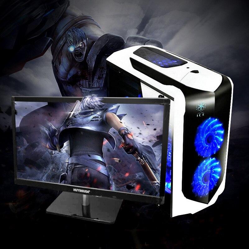 22 24 inch LCD HD panel display screen i3/i5/i7 gaming desktop computer PC Fashion design computer desktop