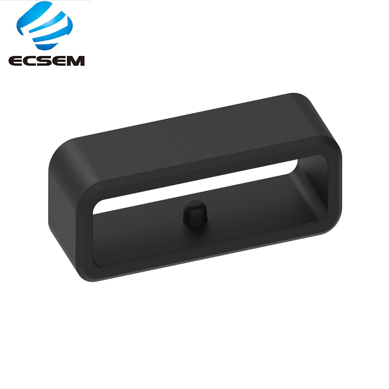 ECSEM 22MM Strap Band Safety Buckle For Garmin Forerunner 220 230 235 Silicone Rubber Replacement For Ticwatch Pro Strap Buckle