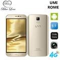 Original Teléfono UMI Roma 4G FDD-LTE 5.5 pulgadas HD MTK6753 Octa Core 1280*720 3G RAM 16G ROM Android 5.1 Cámara smart mobile teléfono