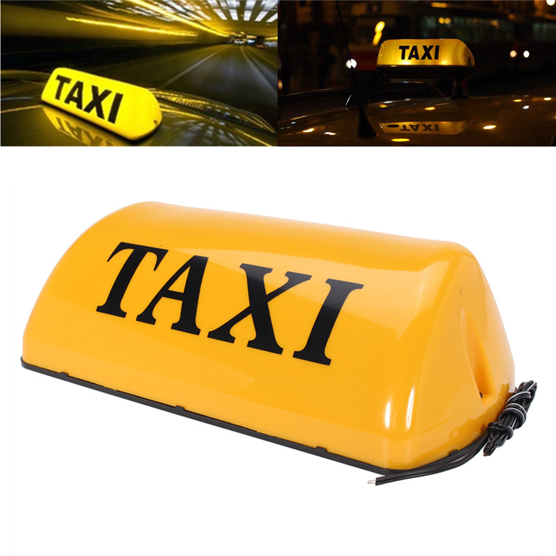 12V Taxi Cab Sign Roof Top Topper Car Magnetic Lamp LED Light Waterproof 11''TAXI Roof Lamp Bright Top Board Roof Sign футболка up dead up rocket черный xs