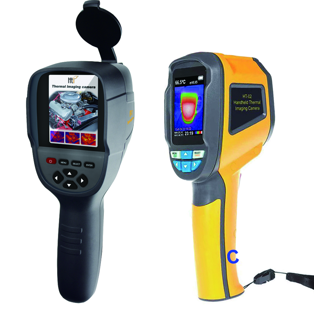 XINTEST Handheld câmera térmica thermal imaging termovisor IR temperatura termômetro infravermelho ferramenta HT-02 HT-02D HT-18