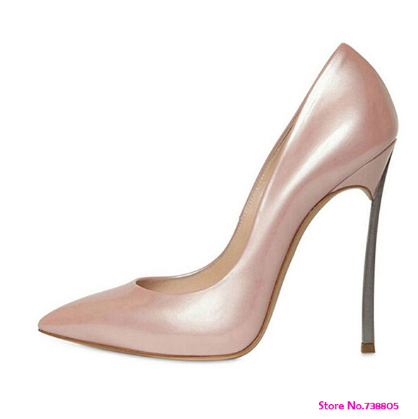 bf6f69414e7a New 2014 Plus Size 35-42 10 11 Genuine Leather Elegant Neon Pink Green Thin  Heel Ladies High Heels Party Pumps Shoes for Women