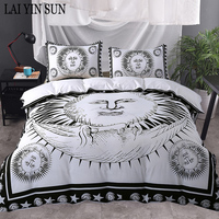 Lai Yin Sun Sun God Bedding Set Moon Black and White Bed Cover Drop Ship Twin Full Queen King Duvet Cover Set best Gift bedline