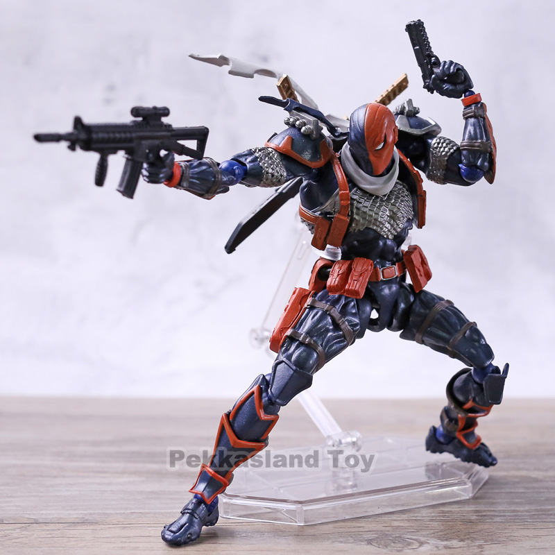 DC Comics Amazing Yamaguchi Revoltech Series NO.011 Deathstroke Action Figures PVC Collectible Model ToyDC Comics Amazing Yamaguchi Revoltech Series NO.011 Deathstroke Action Figures PVC Collectible Model Toy
