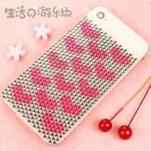 free shipping : DIY Mobile phone stick/MP3,MP4 stick/ Diamond sticker/ love 100pc
