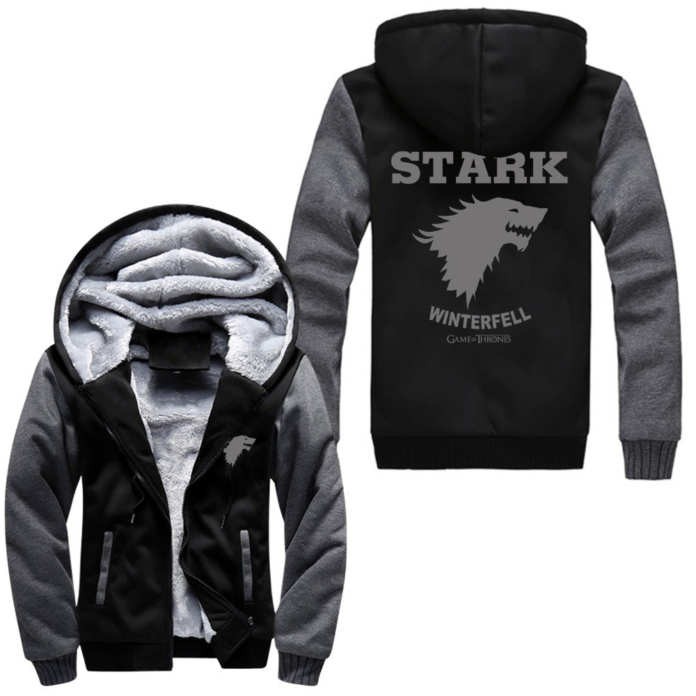 jacket fire reviews online shopping jacket fire reviews on new a song of ice and fire zip hoody game of thrones black hooded jacket house stark thick coats unisex plush sweater hoodie