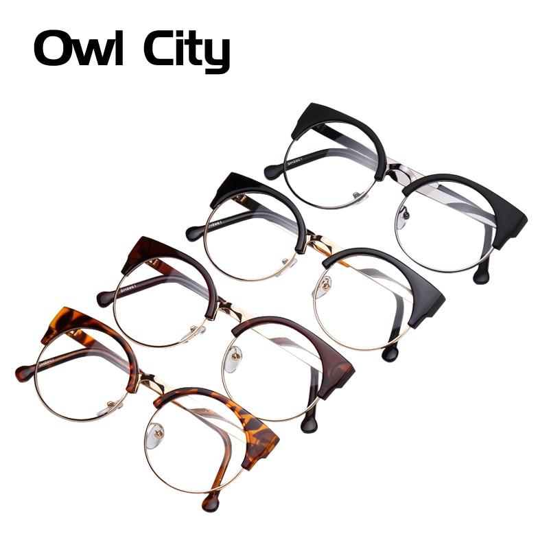 88c0428a381c Women Glasses Cat Eye Eyeglasses Vintage Half Frame Metal Eyewear Frames  Prescription Optical Myopia Computer Clear Glasses -in Women s Eyewear  Frames from ...