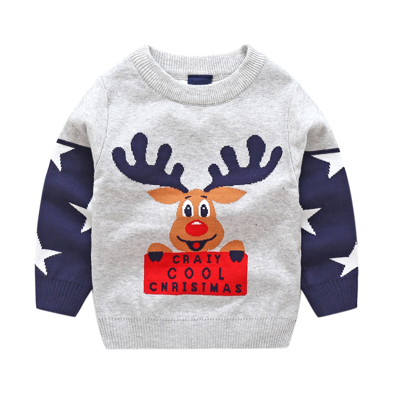 baby boy christmas sweater boys sweaters winter tops cotton knit kids pullover autumn 2018 children clothes pull noel enfant in sweaters from mother kids
