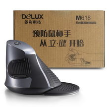 Delux M618/M618gl  Ergonomic Wireless Vertical Mouse 2.4Ghz Wireless Vertical Mouse for Laptop Computer PC