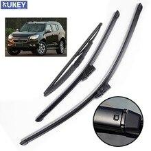 Xukey 3 Pçs/set Dianteiro Traseiro Brisas Wiper Blades Para Chevrolet TrailBlazer RG 2019 2018 2017 2016 2015 2014 2013 2012 22