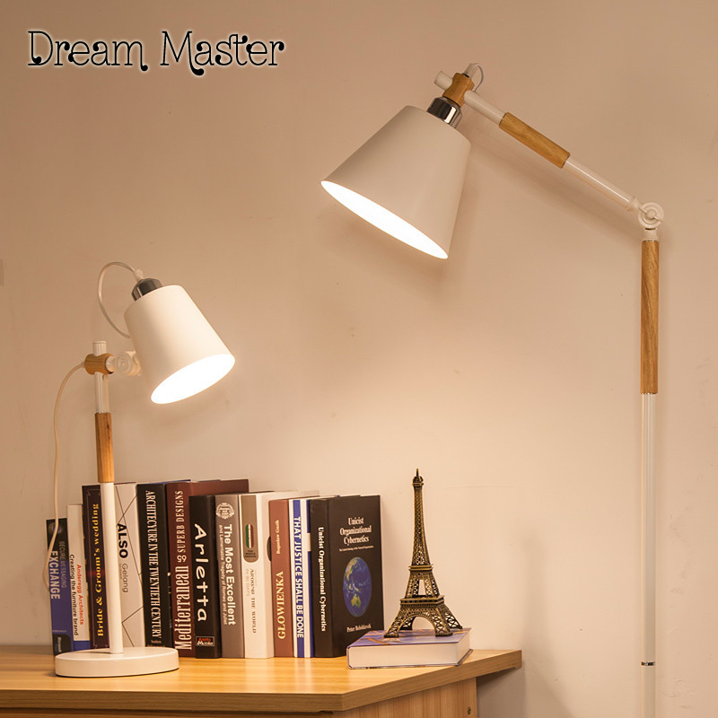 The Study Of Solid Wood Floor Lamp Creative Simple Living