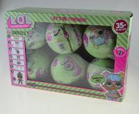 6 8PCS Pack Dolls LOL Ball Surprise Series 2 Boneca LoL Tear Open Color Change Dress
