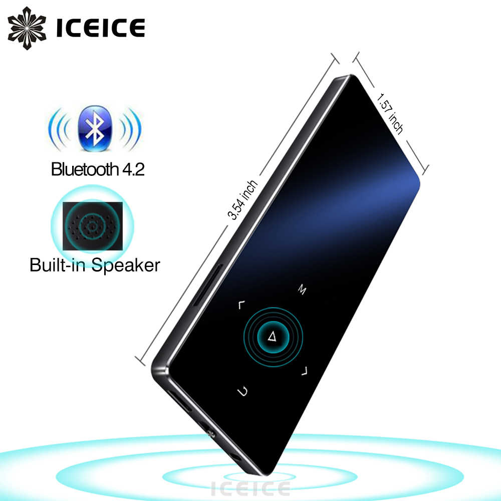 ICEICE New Version MP3 Player with Bluetooth Touch Keys Built-in Speaker 8GB 16GB HiFi Portable Walkman with Radio FM Recording